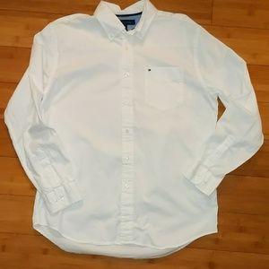Tommy Hilfiger white button up dress shirt large